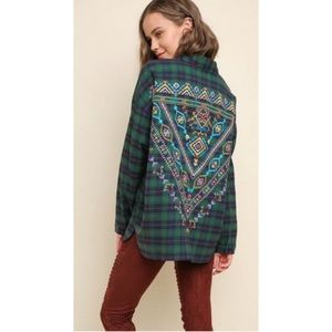 Umgee Embroidered Flannel